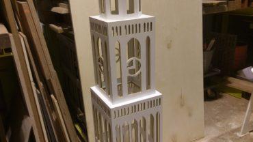 Miniatuur Dom toren CNC gefreesd