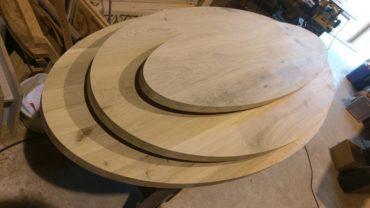 Eiken houten tafels ovaal cnc frezen