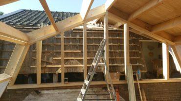 houtconstructie aanbouw